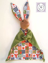 Bunny Blanket ABC (Polar Bear Creations Dolls) Tags: blanket blanky cozy babytoy toddlertoy babyshower waldorf waldorfinspired natural naturaltoy schmuse