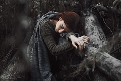 Nastya (ivankopchenov) Tags: girl portrait cute canon beautiful natural naturallight model mood melancholy sadness sorrow people face dark fineart soft shadow noir light eos young lonely hair wind summer warm tender outdoor sensual gentle cinematic forest autumn