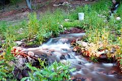 A long exposure shot of a waterfall (o10daw) Tags: waterall backyard longexposure arizona usa water river photography
