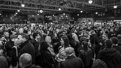 Crush Hour (Leanne Boulton) Tags: monochrome crowd people urban street candid streetphotography candidstreetphotography urbanlandscape sociallandscape streetlife rushhour man woman male female face faces expression emotion atmosphere mood busy train station crush friday hometime clock tone texture detail depth naturallight indoor light shade city scene human life living humanity society culture travel transport canon canon5d 5dmarkiii wideangle 24mm ef2470mmf28liiusm black white blackwhite bw mono blackandwhite glasgow scotland uk
