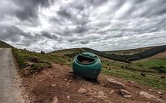 It's days like these that make a salt bin smile (Jon_Wales) Tags: saltbin smiling breconbeacons haybluff wales welsh cymru spring anthropomorphism hills mountain road
