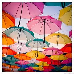 Happy! (Amar Sood) Tags: amarsoodphotocom amarsoodphotography fuji fujinon fujifilm x100 x100t colours catchycolors vscofilm vsco kodakgold200 umbrellas tenerife square film