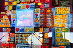 You Can't Lose! (Simon Downham) Tags: gamble gambling onearmbandit onearmedbandit bandit arm one machine money greed addict addiction bright glitter attract attracts dscf1816 wightlink ferry cynical profit profits