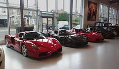 Ferrari Enzo, Ferrari Enzo(carbon fiber body), Ferrari Enzo, Ferrari Enzo(1 of 4 black car produced) (p3cks57) Tags: ferrari enzo london showroom supercars cars hypercars worldcars red black carbon
