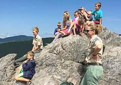 Jr Rangers at Grayson Highlands State Park (vastateparksstaff) Tags: kids children rangers programming interpretive rock boulder