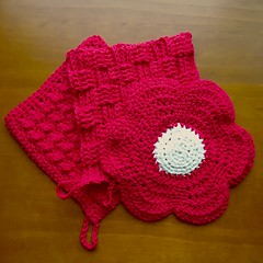 3/24 Hotpads for Mom (Karol A Olson) Tags: crochet kitchen red hotpads potholders project3652017 mdpd2017 mar17