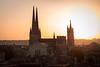 Amanecer en la catedral de Burdeos