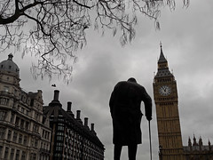 london (maximorgana) Tags: stick tower elizabeth bigben parliamenthouses building tree leafless flying walking backlight