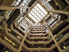 Skylight, Atrium on Bay, Toronto, Ontario (duaneschermerhorn) Tags: architecture architect building structure tiers floors stories atrium atria skylight up gold indoors inside contemporary contemporaryarchitecture modernarchitecture modern toronto ontario canada