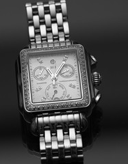 Michele Chronograph (Jnipco) Tags: michele ladies chronograph watch quartz time black white productphotography