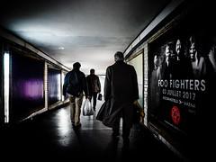 FooFight (Klaus Ressmann) Tags: klaus ressmann omd em1 fparis france peoplestreet subway winter candid corridor flcpeop man motion poster streetphotography unposed klausressmann omdem1