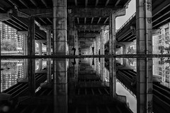 Underworld (Ben Roffelsen Photography) Tags: reflection toronto gardiner expressway fujifilm x100f concrete
