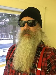 Hairy Beast Mode (Cowboy Tommy) Tags: shade beard gray lumbersexual lumberjack plaid hairy portrait rugged manly facefur