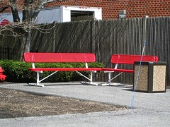 red benches (muffett68 ☺☺) Tags: red benches hbm