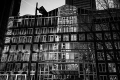 Reflections in Black/White (zilverbat.) Tags: frankfurt noir blanco negro bw blackandwhite mono architecture zilverbat photography reflections reflectie germany duitsland district