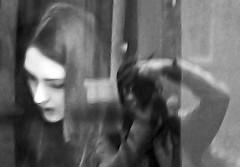 Reflections (Wilamoyo) Tags: street black white bw man photographer monochrome experimental idea interesting unusual reflections