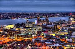 Liverpool Waterfront HDR (phat5toe) Tags: liverpool merseyside hdr rivermersey birkenhead night lights longexposure cityscape nikon d7000