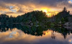 Storavatnet, Norway (Vest der ute) Tags: xt2 norway rogaland røyksund water waterscape landscape lake reflections mirror sunset trees sky clouds afternoon fav25 fav200