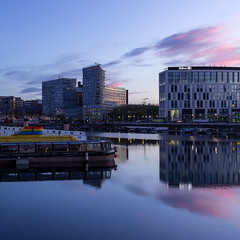 Sunrise over salthouse dock (SiKenyonImages) Tags: liverpool sunrise albertdock salthousedock merseyside reflection blue pink sky
