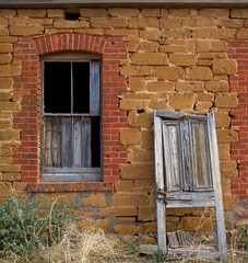 Springs Road ruin (Trace Connolly) Tags: australia australian australiasouthaustralia red yellow ruin buildings oldbuildings gold window door springsroad springs delapidated wood timber quoin limestone country landscape countryside old house orange canon canon7d sigma1750f28exdcoshsm sigma southaustralia