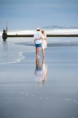 Walk and talk (ranzino) Tags: jerseyshore newjersey stoneharbor vacaction beach couple jetty nj ocean reflection unitedstates us