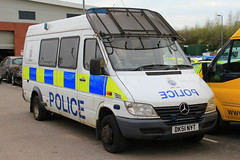 Cheshire Police Mercedes Sprinter Public Order Van (PFB-999) Tags: cheshire police constabulary mercedes sprinter public order van vehucle unit pov psu support lightbar grilles fendoffs rotators beacons strobes dk51nyt headquarters hq