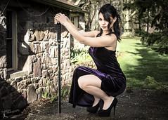 Wonder Women - Ilyana (4) (FightGuy Photography) Tags: ilyana sword weapon blade womenwithswords katana ninjato asianmodel brunette heels highheels naturallight concreteoutdoor chantilly