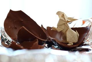 Happy Easter - Rabbit ( origami )