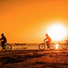 Enjoying cycling in the golden hour