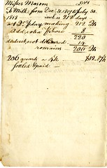Fifth page of the Cambridge Milk Dealer Account Book (Cambridge Room at the Cambridge Public Library) Tags: cambridgemass commercemilkbusiness accountbooks milkdelivery