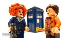 """Hello, Sweetie..."" (Kadigan Photography) Tags: lego minifigure custom doctorwho riversong alexkingston mattsmith eleventh sweetie bbc tardis"