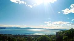 Mirror (martinasirchio) Tags: lake trasimeno water sun monday easter pasquetta blue sky peace silence