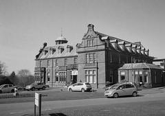 Johnstone House (bigalid) Tags: film 35mm olympus pen ee2 bw c41 fujifilm neopan 400cn halfframe dumfries march crichton
