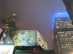 Twin Peaks Billboard Times Square 2017 Foggy Night NYC 4854 (Brechtbug) Tags: twin peaks the return billboard poster ad laura palmer sheryl lee fbi agent dale cooper kyle maclachlan mystery 90s show showtime type mysterious bird birds owl owls may 05212017 9pm 2017 nyc broadway 50th st near times square midtown manhattan street new york city streets 04272017 hazy fog foggy night nite