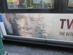 Twin Peaks - The Return Bus AD Billboard Poster 4747 (Brechtbug) Tags: twin peaks the return bus ad billboard poster agent dale cooper kyle maclachlan mystery 90s show showtime type mysteriuos bird birds owl owls may 05212017 9pm 2017 what they seem your favorite gum is coming back style finally already that you like going come new york city streets
