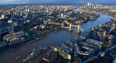 Landmarks (Nige H (Thanks for 8m views)) Tags: landscape cityscape city london england river riverthames hmsbelfast towerbridge toweroflondon canarywharf uk