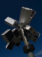 street on a stick (s i l e n t p i c t u r e s) Tags: 2009 supernova sculpture clocktower douglascoupland artist donmillsroad toronto