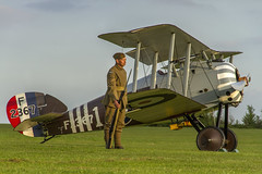 On Guard (Kev Gregory (General)) Tags: timeline events sunset night shoot stow maries great war aerodrome maldon essex world one wwi raf rfc royal flying corp air force sqn squadron biplane aircraft aeroplane historic kev gregory canon 7d sopwith snipe zksni colours no 70 f2367