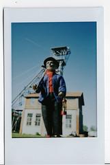 le mineur de Saint Etienne (LUDOVIC. R) Tags: le mineur de saint etienne charbon puits couriot loire forez instax mini fuji argentique film