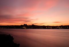 Pink Sky (Karen_Chappell) Tags: pink sunset sky clouds nfld newfoundland stjohns city urban landscape harbour ocean seascape canada atlanticcanada atlantic avalonpeninsula longexposure nd110 pastel water cityscape scenery scenic night evening