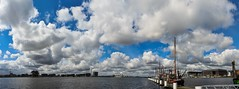 Majestic Clouds. (Hans Veuger) Tags: nederland thenetherlands amsterdam amsterdamnoord ndsmpier ndsm ij hetij panorama sky clouds wolken lucht svanruysdeal nikon b700 coolpix nederlandvandaag unlimitedphotos twop kingsday riverscape cloudscape koningsdag