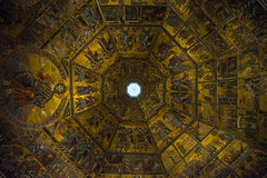 Cupola del Battistero di Firenze (Sanzio33) Tags: firenze florence roof rooftop baptistery gold paints paintings painting saint john mosai work tessellation cupola dome