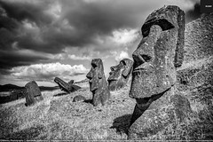 Rano Raraku Moai Statues, Easter Island (Mlenny!) Tags: ancientcivilization archaeology bw chile culture dark dramatic easterisland face getty gettyimages hangaroa head istock landscape mlenny mlennycom mysterious mystery mystical mythology nationalpark nature nobody pacificculture polynesia polynesian ranoraraku rapanui rapanuinationalpark religion remote sky statue tourism travel