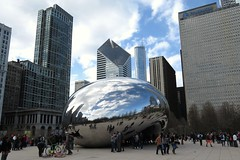 The Bean (Larry Myhre) Tags: sculpture chicago illinois route66 milleniumpark cloudgate thebean