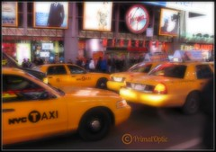 NYC Yellow (PrimalOptic) Tags: nyc newyork streets yellow night traffic taxi taxis busy cabs