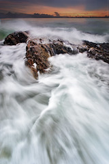 Dancing Waves on Rocks (Tuah Roslan) Tags: ocean beach rock pacific wave terengganu crashingwaves ombak garapata telukbidara tanjungjara landscapesbeautiful ombakrindu bidarabeach bidaracoast