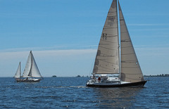 Allied Seawind and C&C 110 (cjh44) Tags: ontario sailboat sailing sunday sails kingston collinsbay alliedseawind
