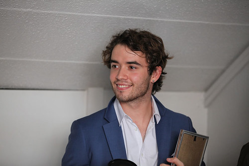 UWantMeToKillHim actor Jamie Blackley outside the Filmhouse after the Awards ceremony