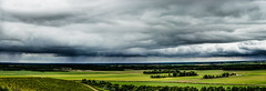 Cloud and rain over the Champagne's Vineyards [HDR] N°700 (ZeGaby) Tags: sky panorama landscape pentax ciel vineyards vignes paysages hdr marne tamron70300 eolienne vignobles k30 mareuilsuray