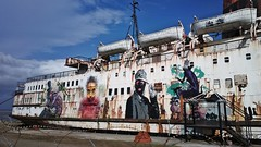 Black Duke of Lancaster (Ros Bell Photography) Tags: streetart boat nokia dock rust ship urbanart bungle reportage liner carlzeiss 808 dukeoflancaster mrzero fatheat dalegrimshaw pureview